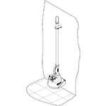 Wall mounting kit CEIA Metal Detectors